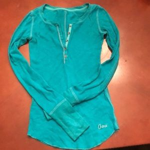 Aeropostale turquoise long sleeve stretch top